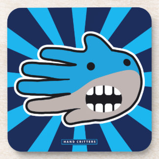Open Mouth Blue Shark Drink Coaster