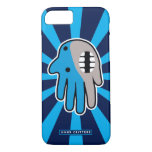 Hand shaped Open Mouth Blue Shark iPhone 7 Case