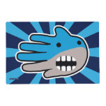 Hand shaped Open Mouth Blue Shark Placemat