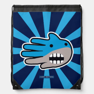Open Mouth Hungry Shark Drawstring Bag