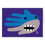 Hand shaped Open Mouth Shark Card