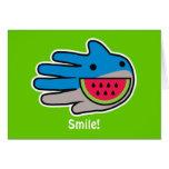 Hand shaped Open Mouth Shark Card