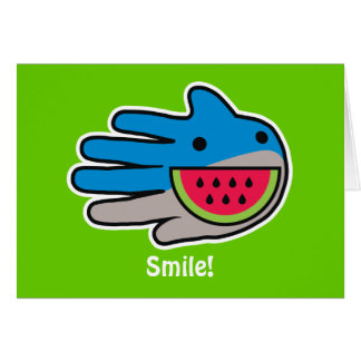 Open Mouth Shark Smile Wide as Watermelon Card