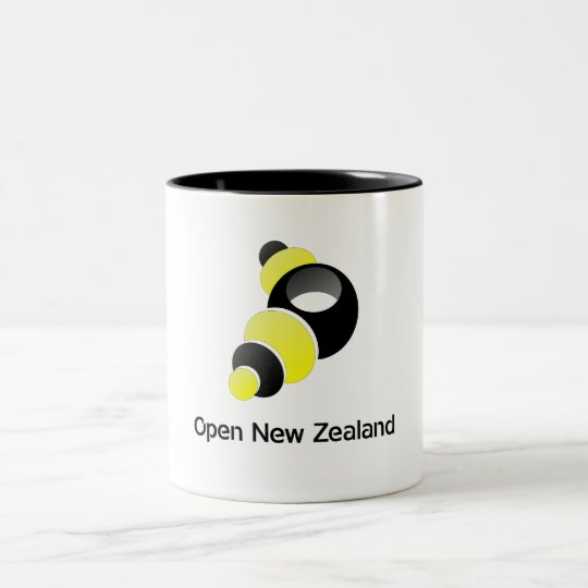 Open New Zealand Mug! Two-Tone Coffee Mug