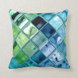 "Open Ocean Beach Cottage Pillows ~ home decor gift<br><div class=""desc"">Another beautiful item in the Open Ocean collection!! It&#39;s so sparklee and warm and colorful and fresh and unique and just delightful! This American Mojo pillow has a design of water, glass, mosaic and deep blue ocean! Stunning design of blue, teal, aquamarine, green, purple, and all other ocean colors! This...</div>"
