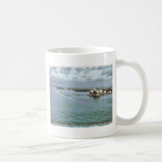 Open ocean in front of Sydney Opera House Classic White Coffee Mug