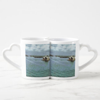Open ocean in front of Sydney Opera House Couples' Coffee Mug Set