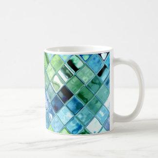 Open Ocean Mosaic Art ~ custom select style & size Classic White Coffee Mug