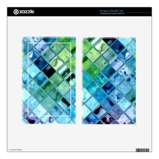 Open Ocean mosaic glass tiles kindle reader skin Kindle Fire Decals