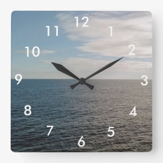 Open Ocean Wall Clock With Numbers