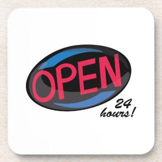 Open_Open24Hrs Beverage Coasters