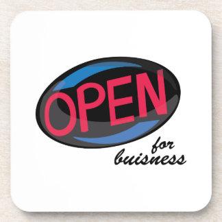 Open_OpenForBusiness Drink Coasters