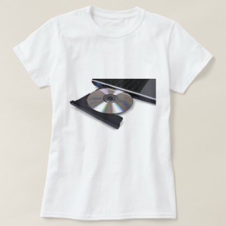 open optical disk drive, cd, dvd, blu-ray t-shirt
