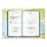 Open Passport Bar Bat Mitzvah Reply 3.5x5 Paper Invitation Card