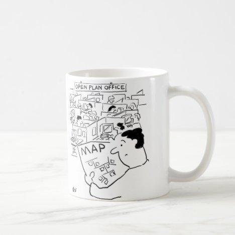 Open Plan Office - Man needs a Map Coffee Mug