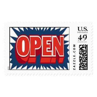 open stamps
