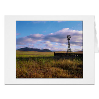 """ Open Range Windmill "" Card"