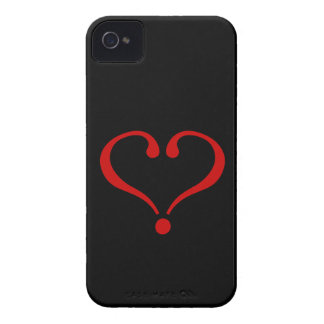 Open red Heart and love in day of San Valentin iPhone 4 Case-Mate Case