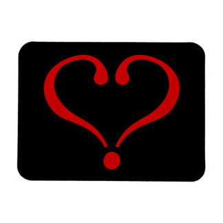 Open red Heart and love in day of San Valentin Magnet