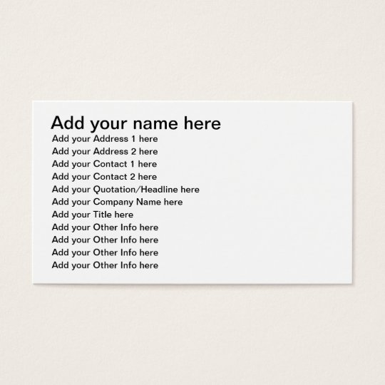 Open road/Highway background Business Card