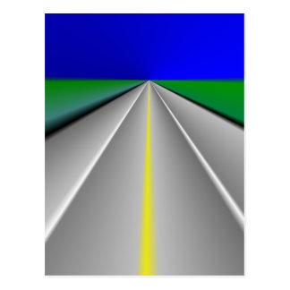 Open road/Highway background Postcard