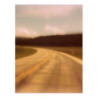 Open Road Nostalgic Postcard Image