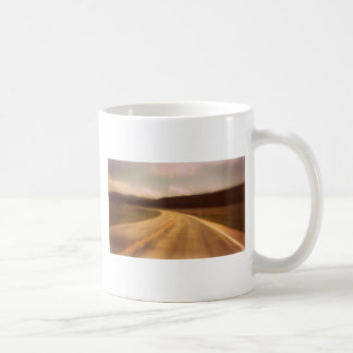 Open Road Nostalgic Postcard Image Coffee Mug