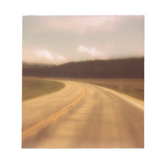Open Road Nostalgic Postcard Image Notepad