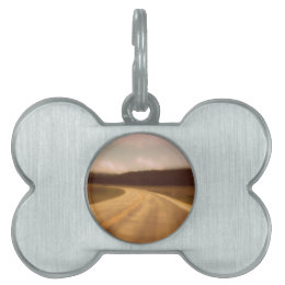 Open Road Nostalgic Postcard Image Pet Tag