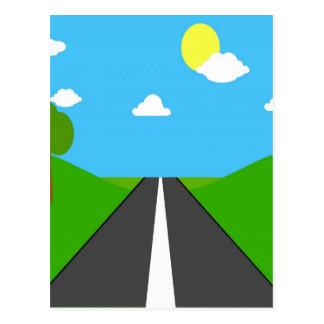 open road to success peace joy postcard