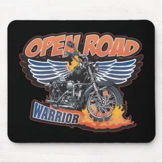 Open Road Warrior Motorcycle Wings Mouse Pad
