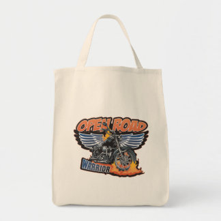 Open Road Warrior Motorcycle Wings Tote Bag