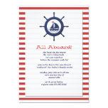 """Open Seas Nautical Invitation 5"""" X 7"""" Invitation Card"""