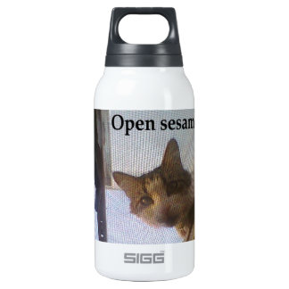 Open sesame! insulated water bottle