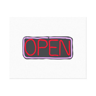 Open Sign Stretched Canvas Print