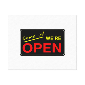 Open Sign Stretched Canvas Prints