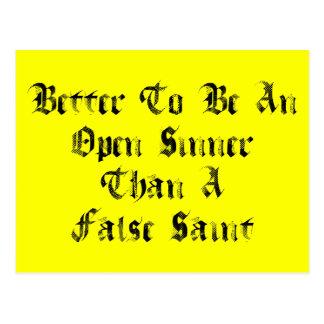 Open Sinner Postcard
