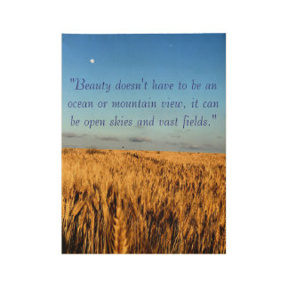 Open Skies & Field-Inspirational Quote Poster Wood Poster