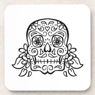 open skull beverage coasters