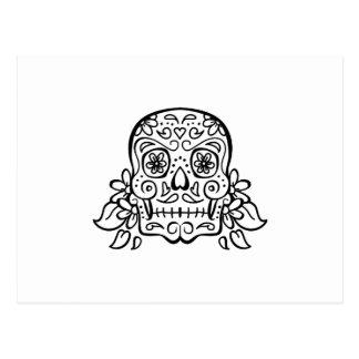open skull postcard