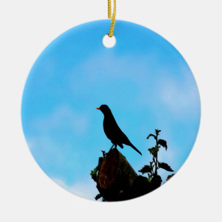 Open Sky Open Mind bird and tree Ceramic Ornament