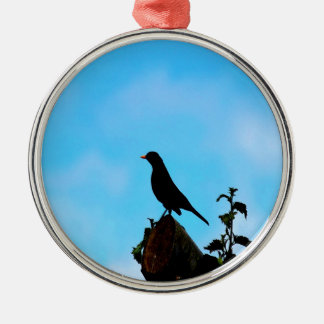 Open Sky Open Mind bird and tree Metal Ornament
