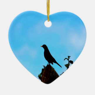 Open Sky Open Mind bird and tree Christmas Ornaments