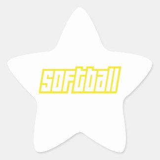 OPEN SOFTBALL STAR STICKER