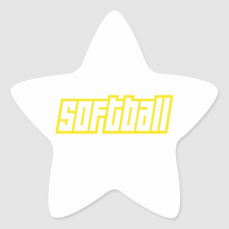 OPEN SOFTBALL STAR STICKER