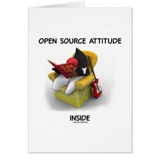 Open Source Attitude Inside (Duke Java Book Chair) Card