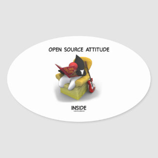 Open Source Attitude Inside (Duke Java Book Chair) Oval Sticker