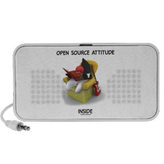 Open Source Attitude Inside (Duke Java Book Chair) iPhone Speaker