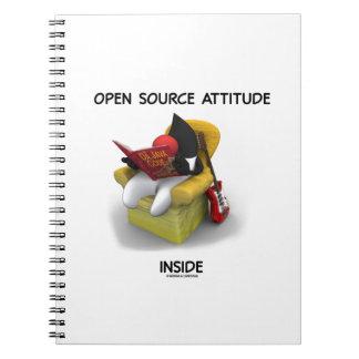 Open Source Attitude Inside (Duke Java Book Chair) Spiral Notebook