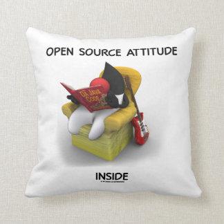 Open Source Attitude Inside (Duke Java Book Chair) Throw Pillow